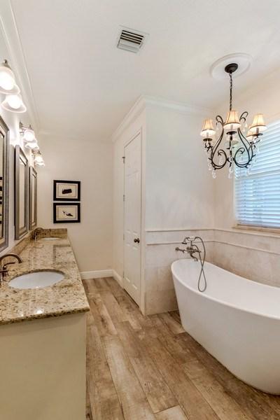 Real Estate Photography - 2425 Greenbriar Drive, Delray Beach, FL, 33445 - Master Bathroom