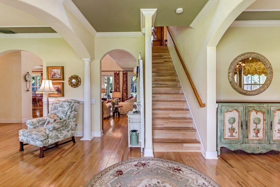 Real Estate Photography - 2425 Greenbriar Drive, Delray Beach, FL, 33445 - Foyer