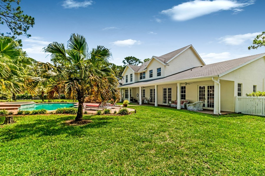 Real Estate Photography - 2425 Greenbriar Drive, Delray Beach, FL, 33445 - Rear View