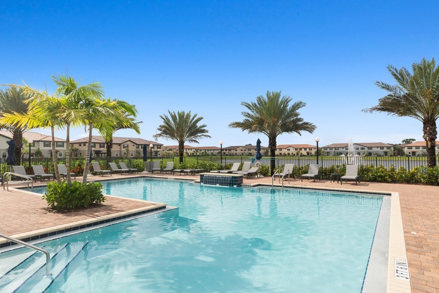 Real Estate Photography - 13045 Anthorne Lane, Boynton Beach, FL, 33436 - Community Pool