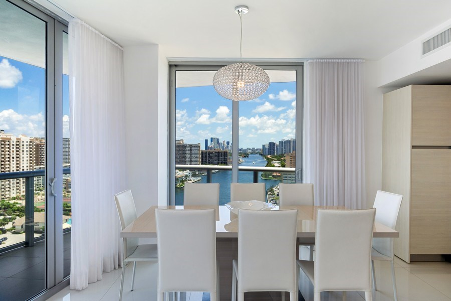 Real Estate Photography - 2600 E Hallandale Beach Blvd, 1701, Hallandale Beach, FL, 33009 - Dining Room
