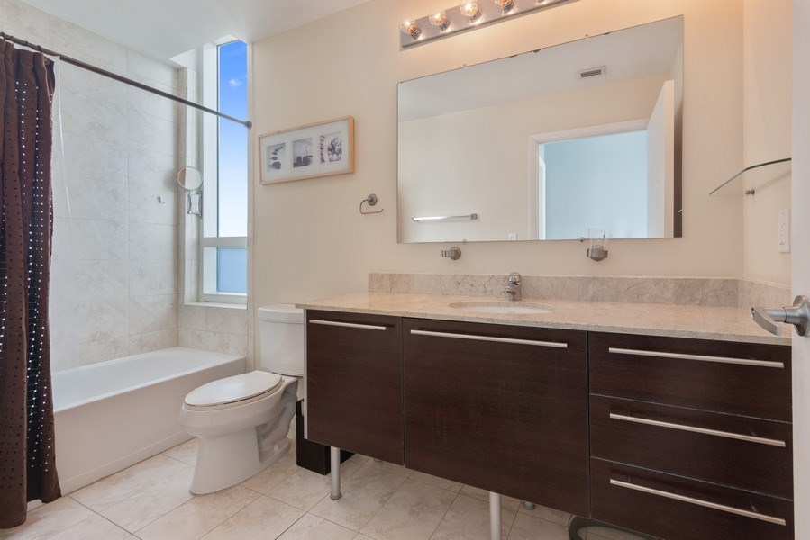 Real Estate Photography - 1900 N. Bayshore Drive, #4802, Miami, FL, 33132 - Master Bathroom
