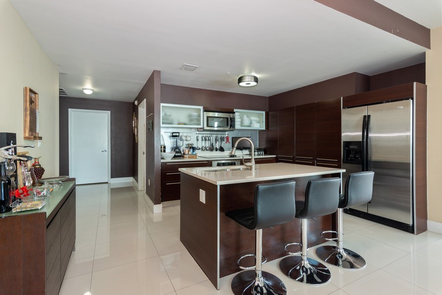 Real Estate Photography - 1900 N. Bayshore Drive, #4802, Miami, FL, 33132 - Open Kitchen