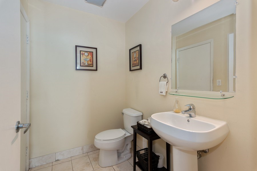Real Estate Photography - 1900 N. Bayshore Drive, #4802, Miami, FL, 33132 - Guest Half Bathroom