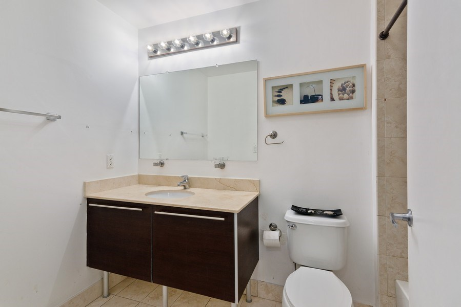 Real Estate Photography - 1900 N. Bayshore Drive, #4802, Miami, FL, 33132 - Second Bathroom