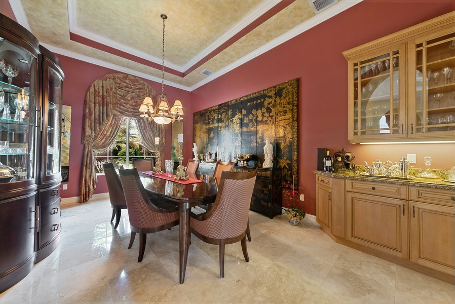 Real Estate Photography - 939 Hyacinth Drive, Delray Beach, FL, 33483 - Dining Room