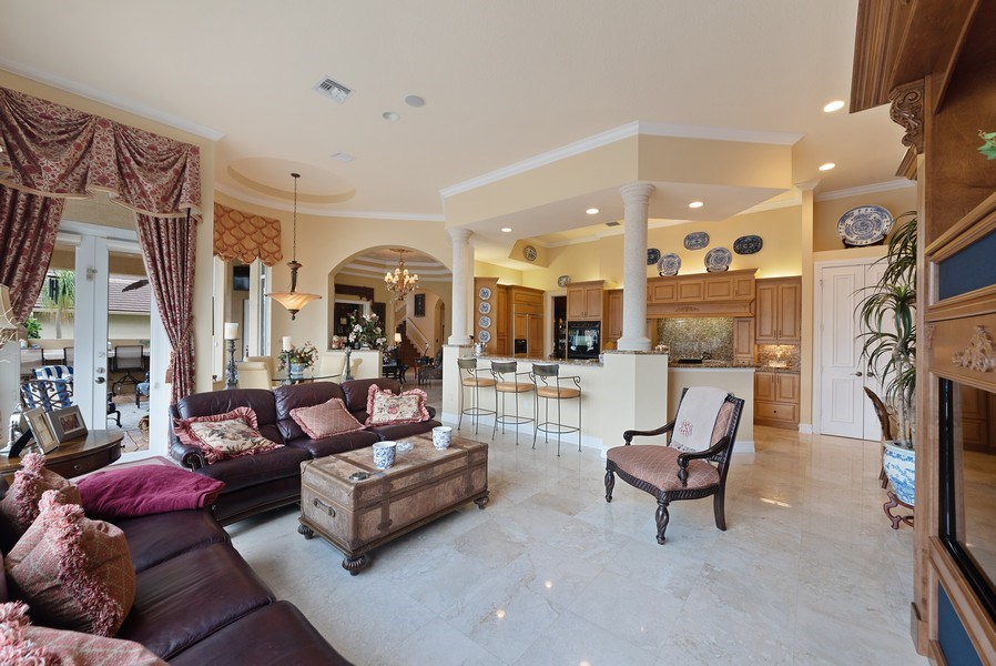 Real Estate Photography - 939 Hyacinth Drive, Delray Beach, FL, 33483 - Family Room / Kitchen