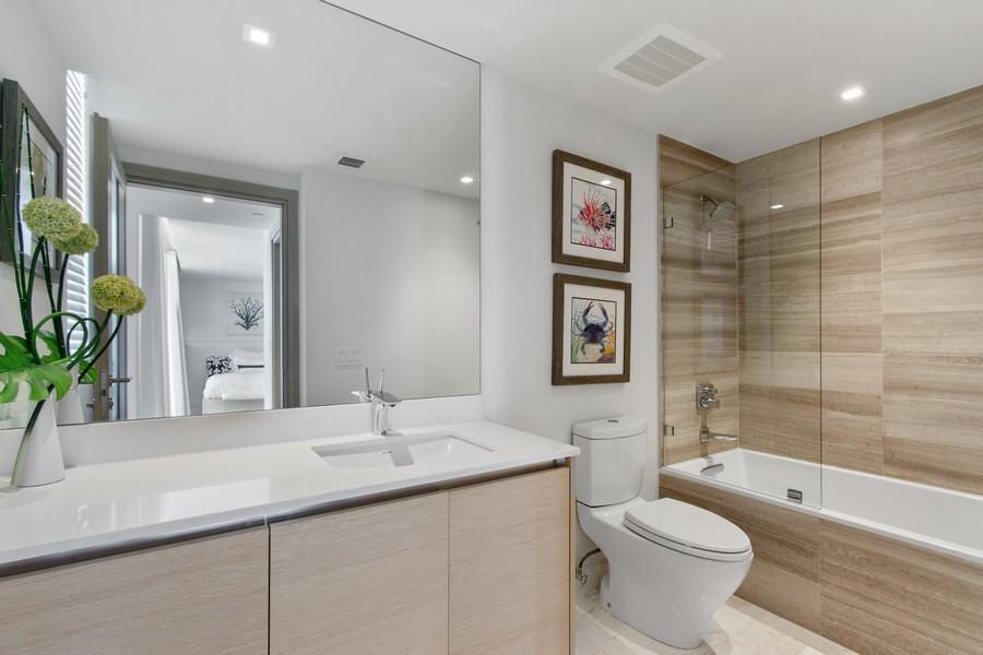 Real Estate Photography - 9501 Collins Avenue, TH-2, Surfside, FL, 33154 - 3rd Bathroom
