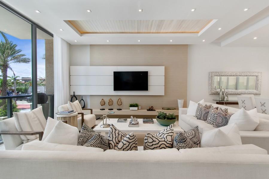 Real Estate Photography - 9501 Collins Avenue, TH-2, Surfside, FL, 33154 - Living Room