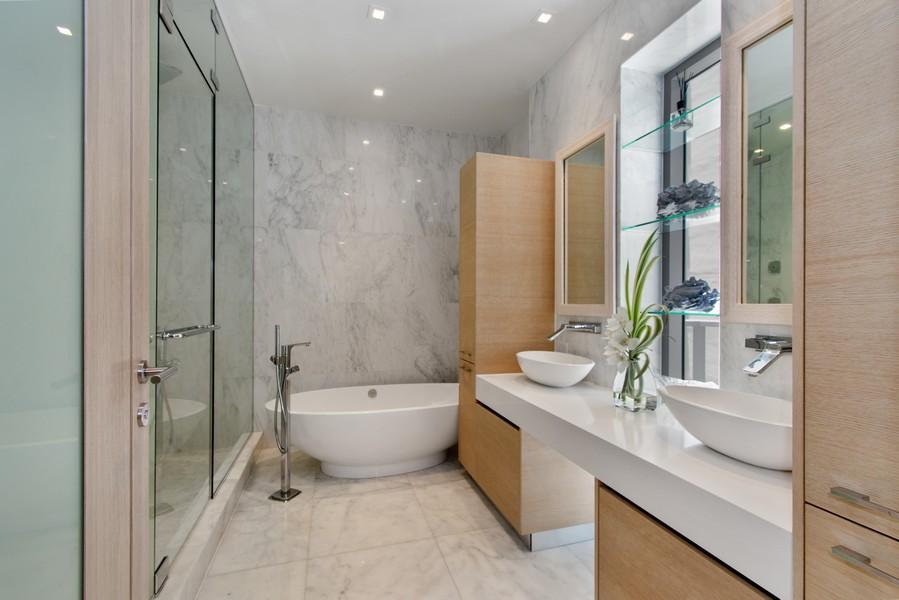 Real Estate Photography - 9501 Collins Avenue, TH-2, Surfside, FL, 33154 - Master Bathroom