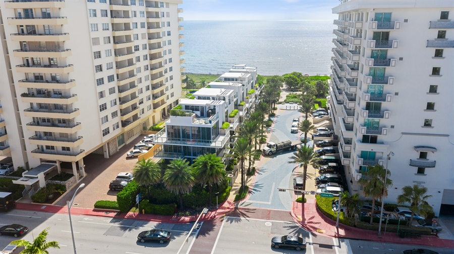 Real Estate Photography - 9501 Collins Avenue, TH-2, Surfside, FL, 33154 - Aerial View