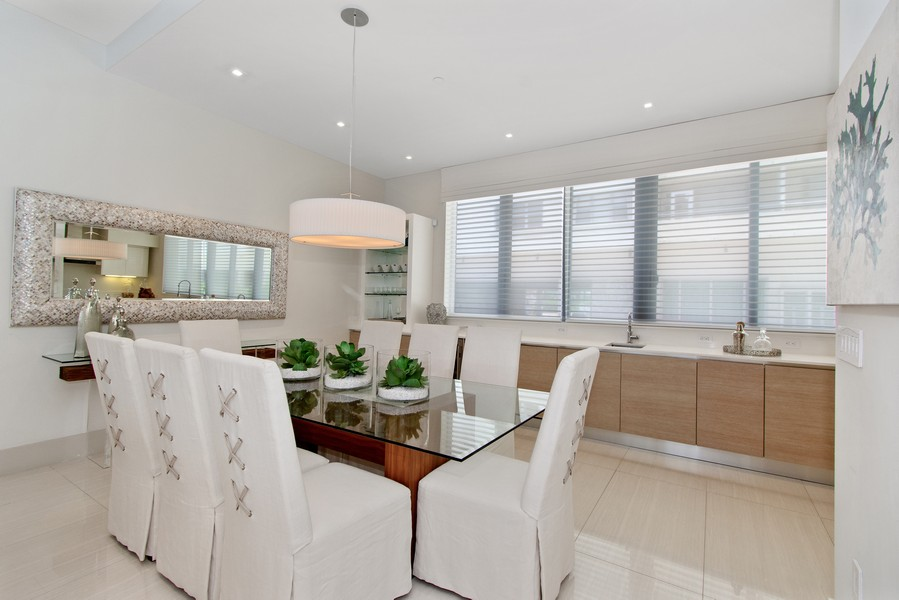 Real Estate Photography - 9501 Collins Avenue, TH-2, Surfside, FL, 33154 - Dining Room