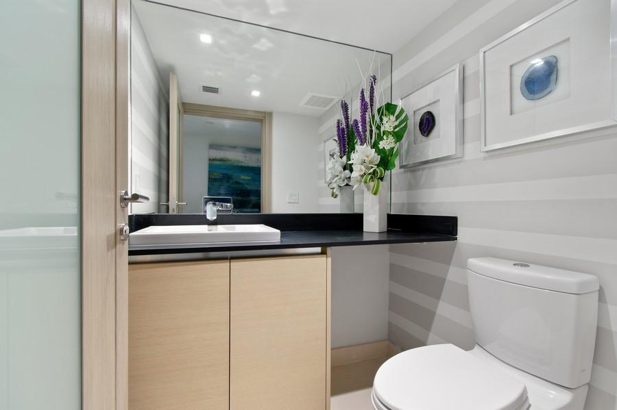 Real Estate Photography - 9501 Collins Avenue, TH-2, Surfside, FL, 33154 - Half Bath