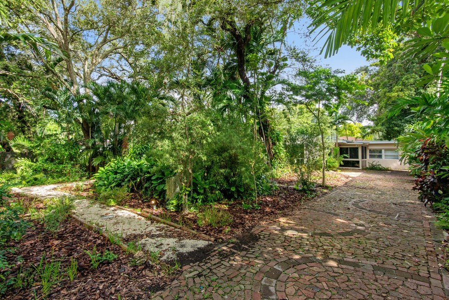 Real Estate Photography - 311 NE 86th Street, El Portal, FL, 33138 - Front Yard, Garden & Main Driveway