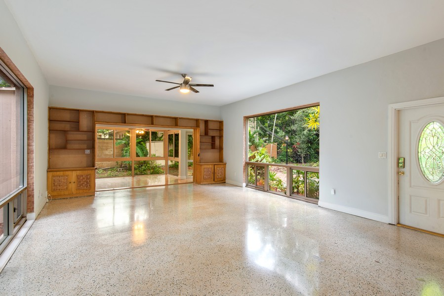 Real Estate Photography - 311 NE 86th Street, El Portal, FL, 33138 - Living/Dining Area