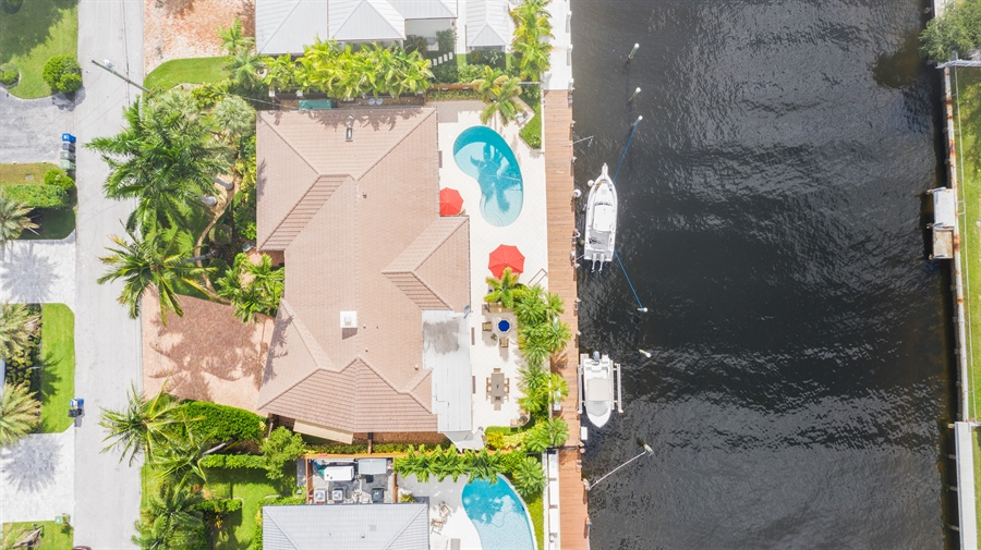 Real Estate Photography - 2864 NE 24th Place, Fort Lauderdale, FL, 33305 - Aerial View