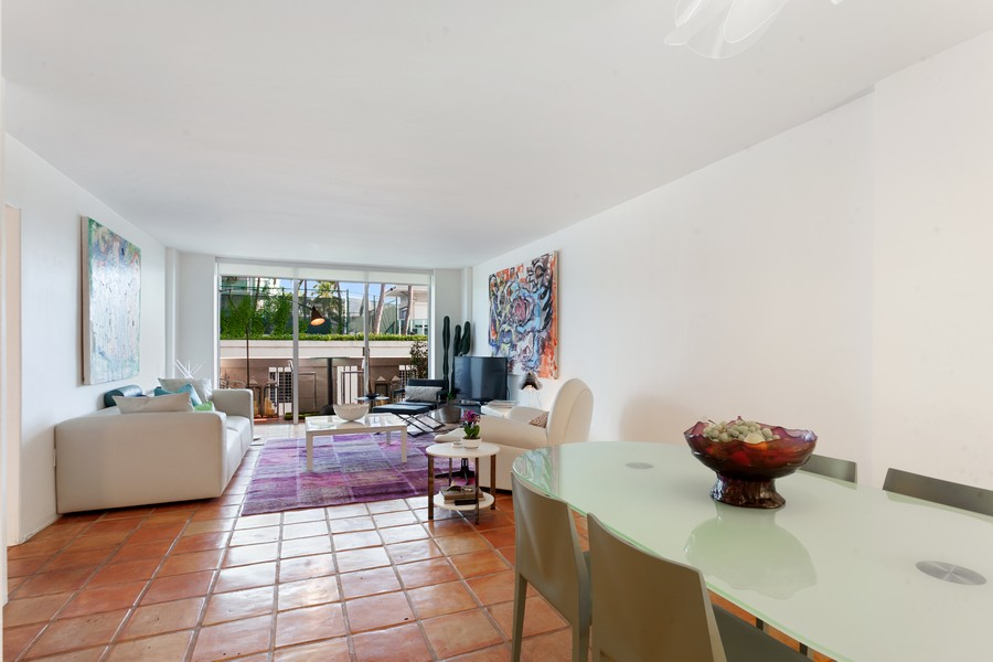 Real Estate Photography - 800 West Avenue, #608, Miami Beach, FL, 33139 - Living Room / Dining Room