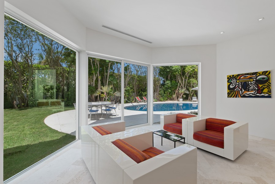 Real Estate Photography - 3 Via Los Incas, Palm Beach, FL, 33480 - Sitting Room