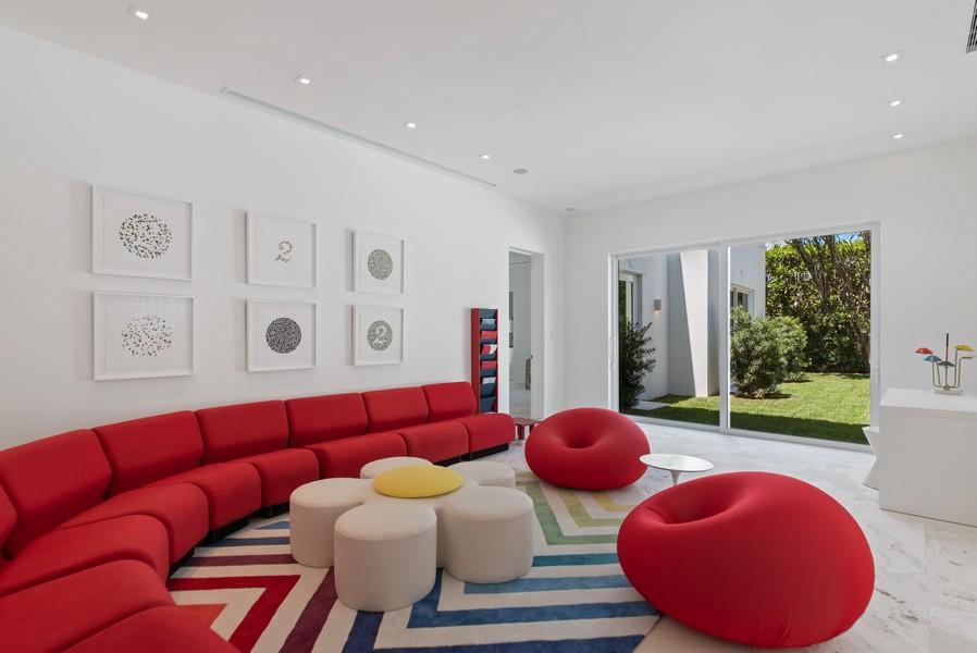 Real Estate Photography - 3 Via Los Incas, Palm Beach, FL, 33480 - Family Room
