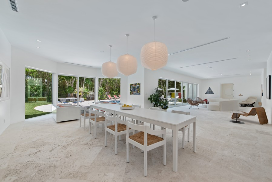 Real Estate Photography - 3 Via Los Incas, Palm Beach, FL, 33480 - Living Room/Dining Room