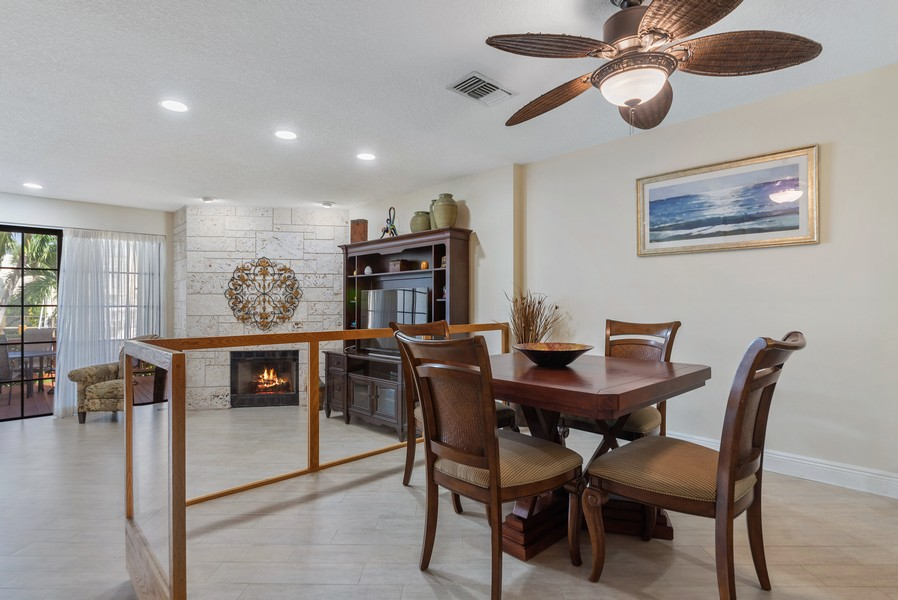 Real Estate Photography - 1055 Boca Cove Lane, Highland Beach, FL, 33487 - Dining Room