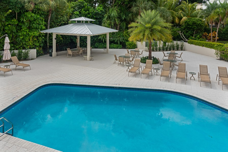 Real Estate Photography - 1055 Boca Cove Lane, Highland Beach, FL, 33487 - Pool