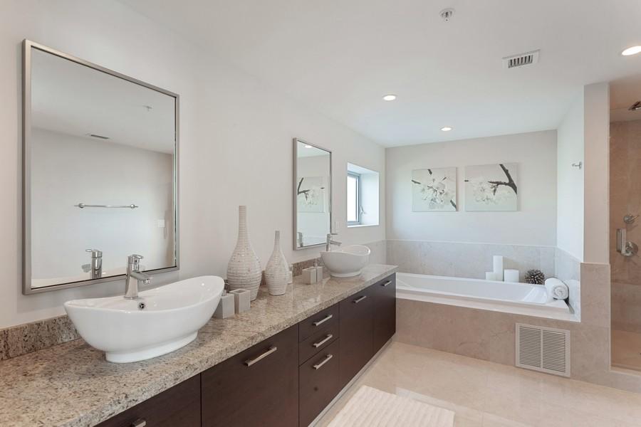 Real Estate Photography - 9400 W. Bay Harbor Drive, #504, Bay Harbor Islands, FL, 33154 - Master Bathroom