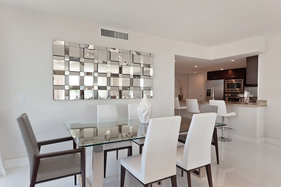 Real Estate Photography - 9400 W. Bay Harbor Drive, #504, Bay Harbor Islands, FL, 33154 - Dining Room