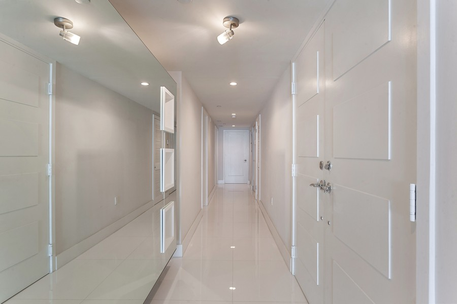 Real Estate Photography - 9400 W. Bay Harbor Drive, #504, Bay Harbor Islands, FL, 33154 - Hallway