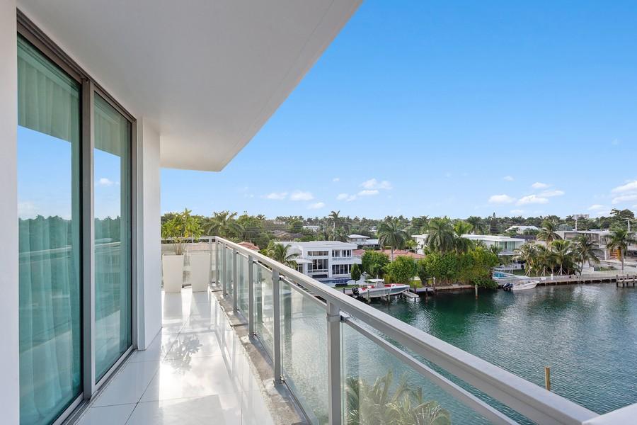 Real Estate Photography - 9400 W. Bay Harbor Drive, #504, Bay Harbor Islands, FL, 33154 - Balcony