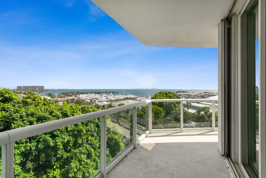 Real Estate Photography - 2645 South Bayshore Drive #703, Miami, FL, 33133 - Terrace