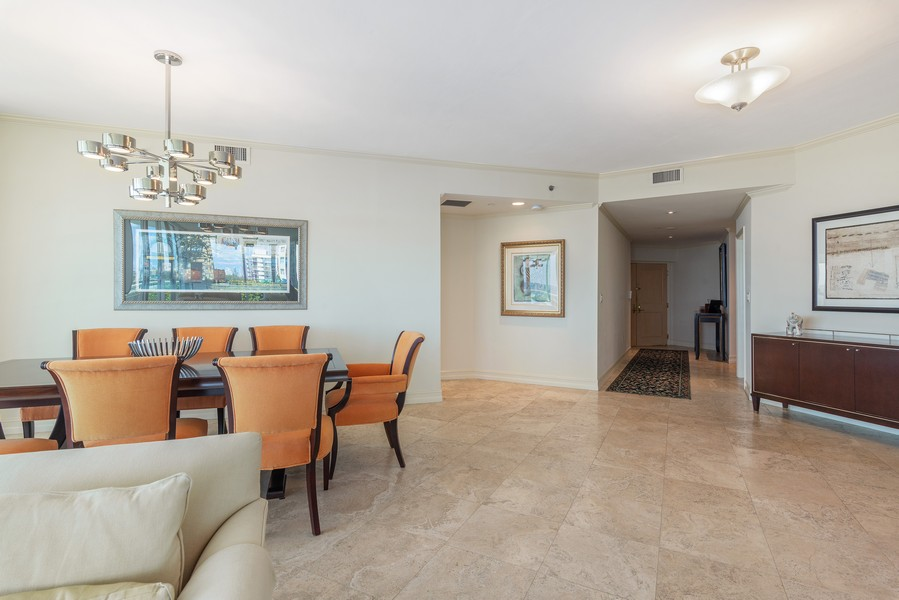 Real Estate Photography - 2645 South Bayshore Drive #703, Miami, FL, 33133 - Foyer/Dining Room