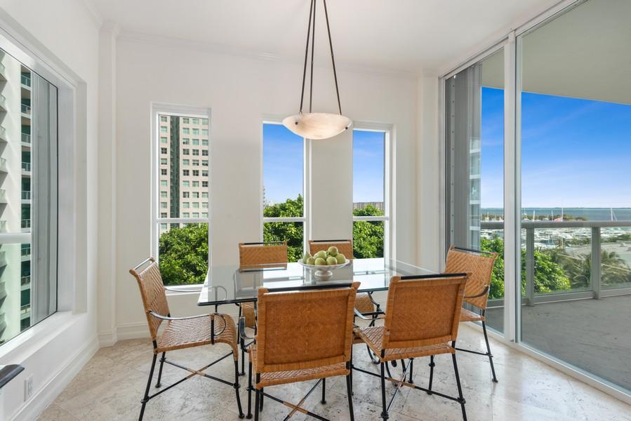 Real Estate Photography - 2645 South Bayshore Drive #703, Miami, FL, 33133 - Breakfast Area