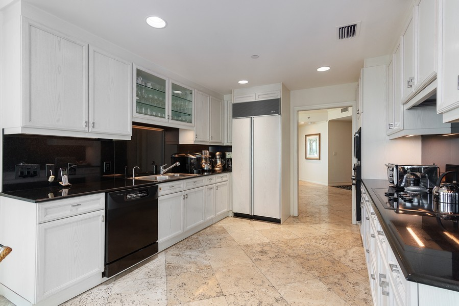 Real Estate Photography - 2645 South Bayshore Drive #703, Miami, FL, 33133 - Kitchen