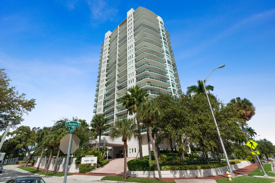 Real Estate Photography - 2645 South Bayshore Drive #703, Miami, FL, 33133 - Front View