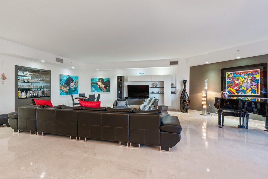 Real Estate Photography - 60 Edgewater Drive #3E, Coral Gables, FL, 33133 - Living Room