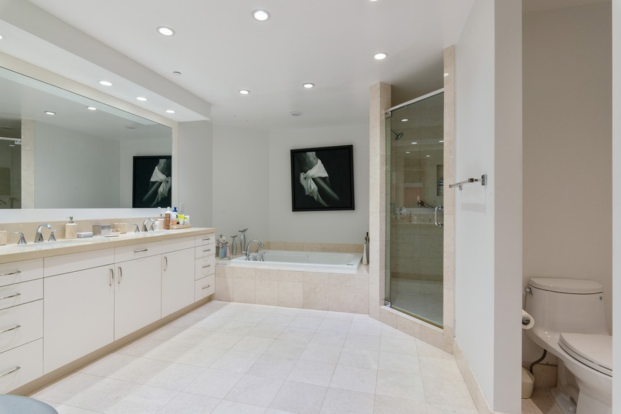 Real Estate Photography - 60 Edgewater Drive #3E, Coral Gables, FL, 33133 - Master Bathroom