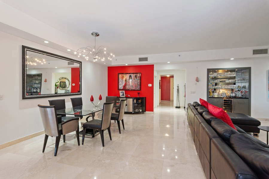 Real Estate Photography - 60 Edgewater Drive #3E, Coral Gables, FL, 33133 - Foyer/Dining Room