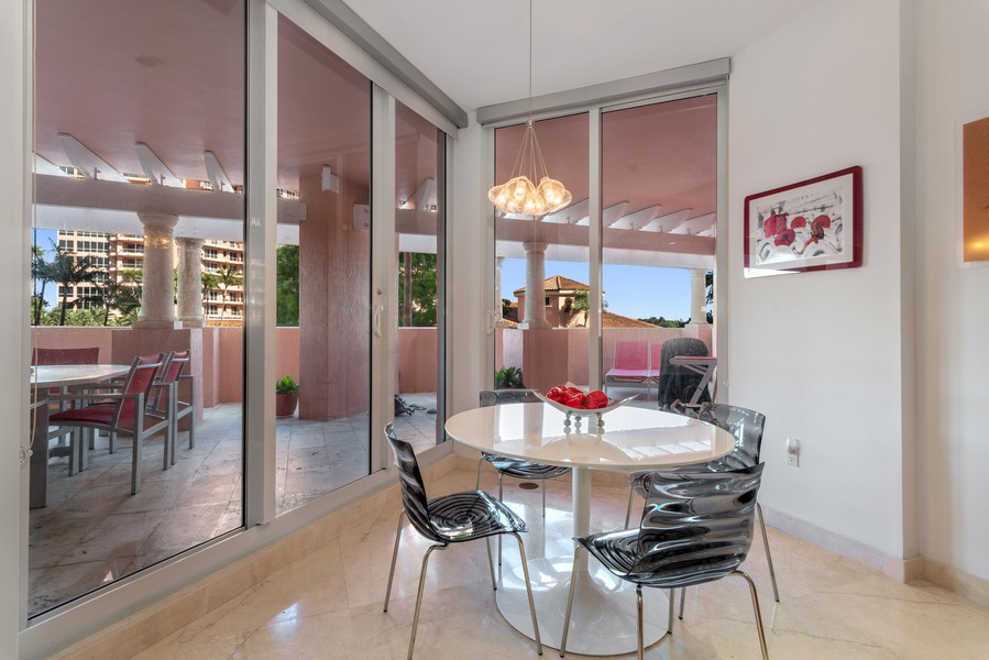 Real Estate Photography - 60 Edgewater Drive #3E, Coral Gables, FL, 33133 - Breakfast Area