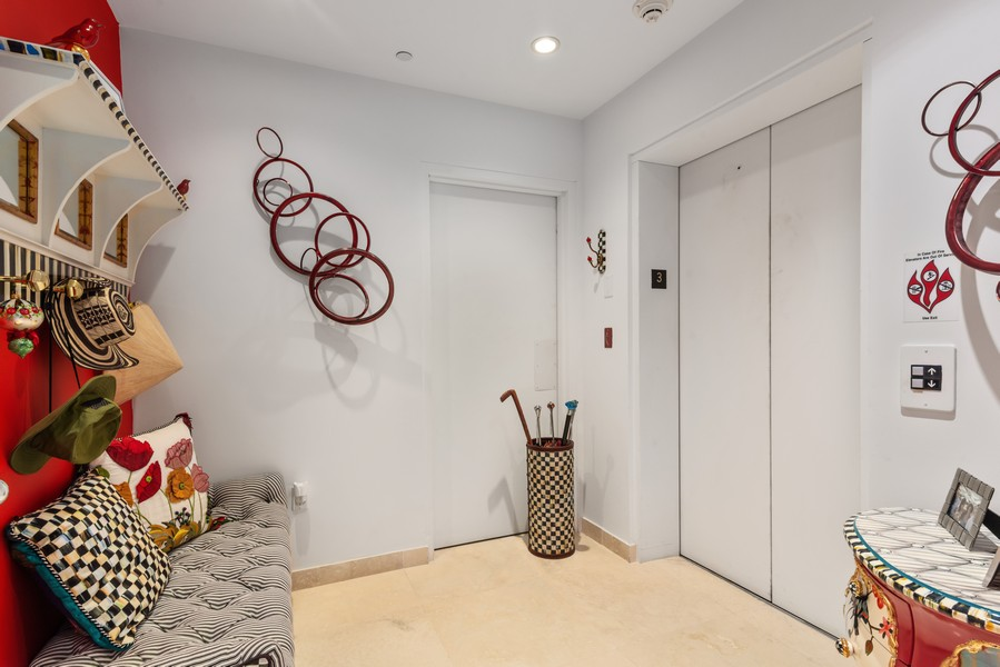 Real Estate Photography - 60 Edgewater Drive #3E, Coral Gables, FL, 33133 - Elevator