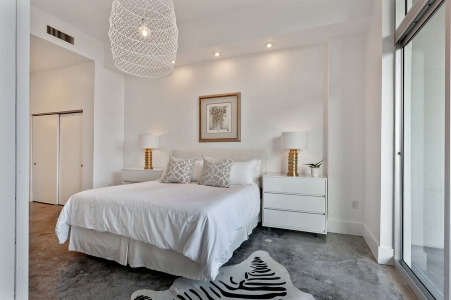 Real Estate Photography - 2001 Meridian Ave, #406, Miami Beach, FL, 33139 - Master Bedroom