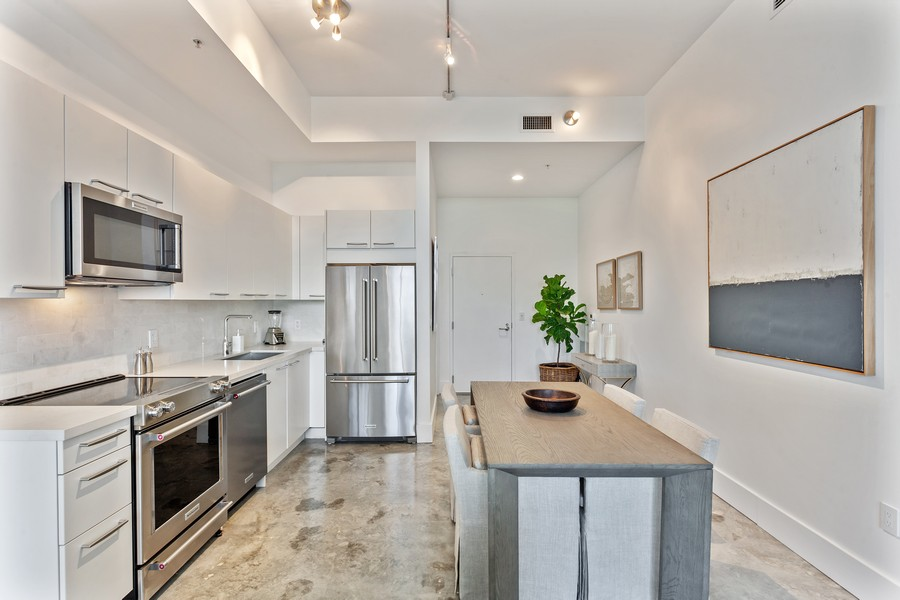 Real Estate Photography - 2001 Meridian Ave, #406, Miami Beach, FL, 33139 - Kitchen / Dining Room