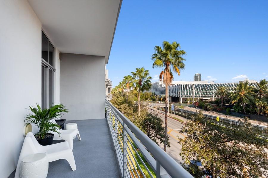 Real Estate Photography - 2001 Meridian Ave, #406, Miami Beach, FL, 33139 - Balcony