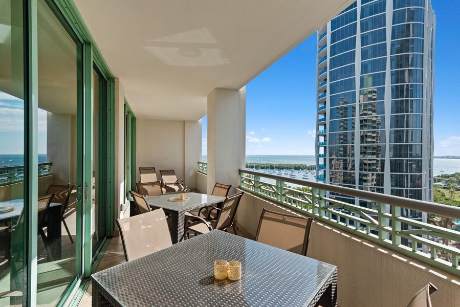 Real Estate Photography - 3400 SW 27th Avenue, #1104, Miami, FL, 33133 - Terrace