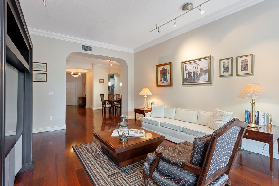 Real Estate Photography - 2401 Anderson Road, #2, Coral Gables, FL, 33134 - Living Room