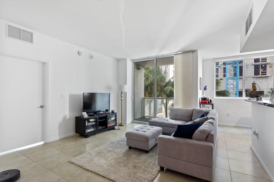 Real Estate Photography - 253 NE 2nd Street 1108, Miami, FL, 33132 - Living Room