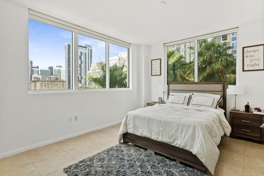 Real Estate Photography - 253 NE 2nd Street 1108, Miami, FL, 33132 - Bedroom