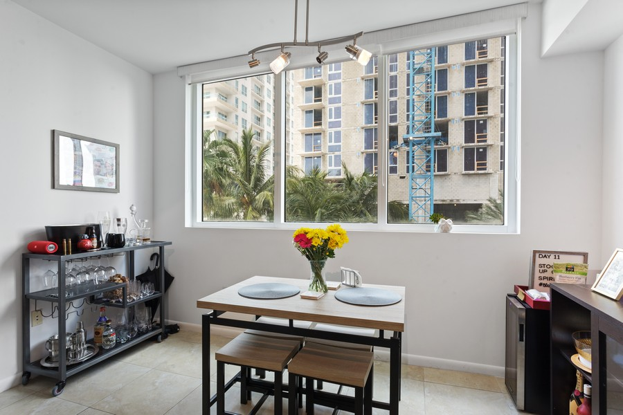 Real Estate Photography - 253 NE 2nd Street 1108, Miami, FL, 33132 - Dining Room