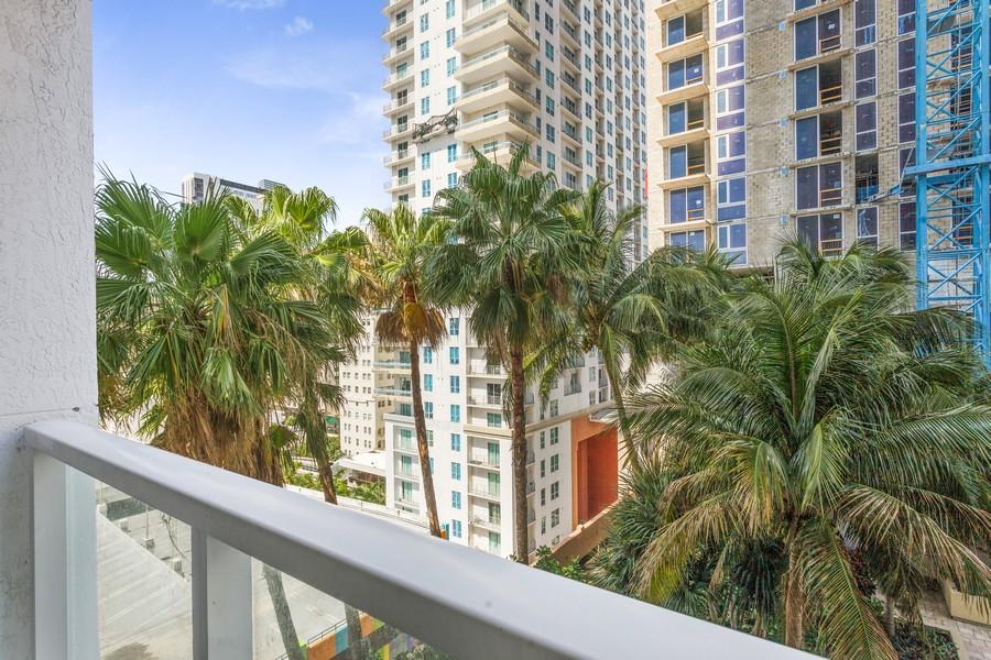 Real Estate Photography - 253 NE 2nd Street 1108, Miami, FL, 33132 - Balcony