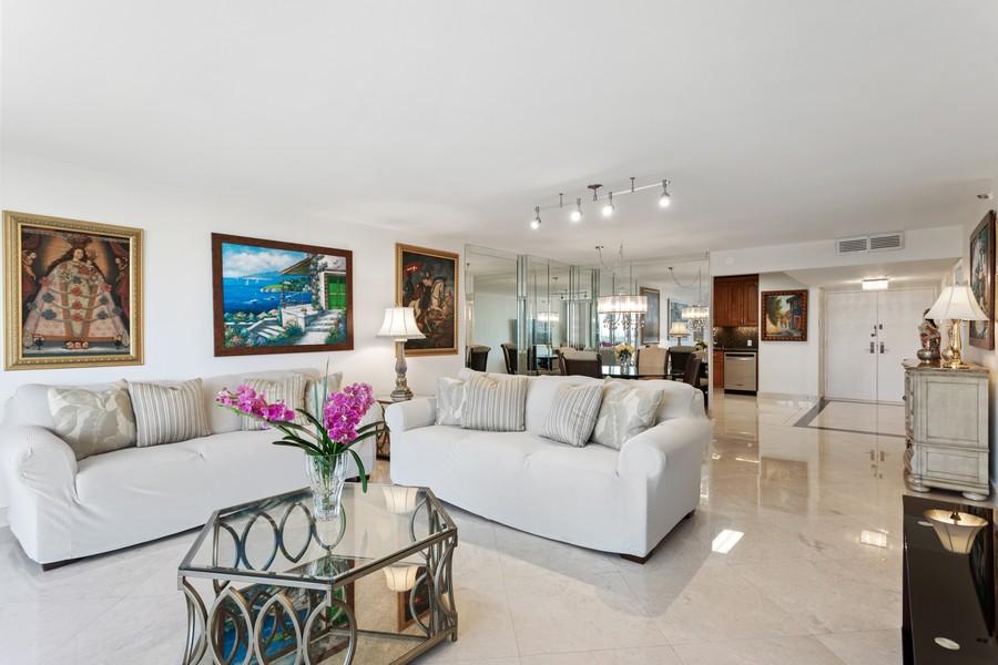 Real Estate Photography - 8777 Collins Ave #606, Surfside, FL, 33154 - Living Room